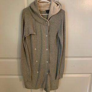 Oakley Gray Fur Hooded Long Sleeve Sweater